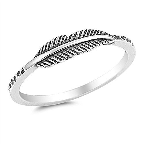 Oxidized Leaf Fashion Ring New .925 Sterling Silver Band Sizes 3-10