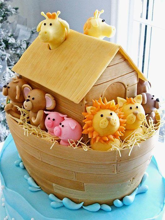 Pastel de arca de Noé,lindo requete lindo.