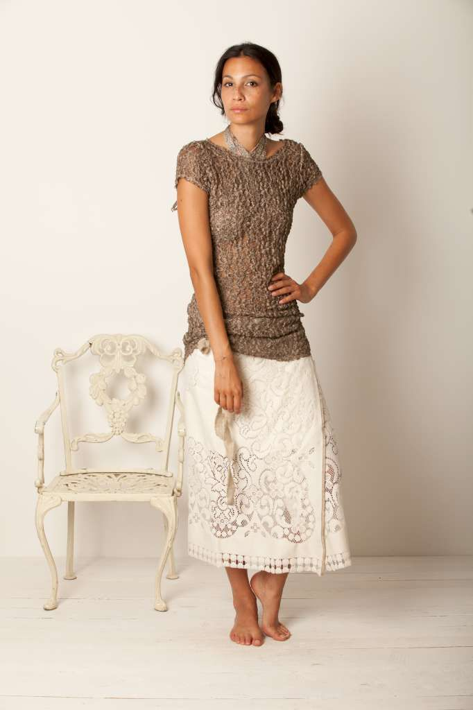 Monday Mood... #momoé #summer  milk lace skirt and bronze t.shirt all lace