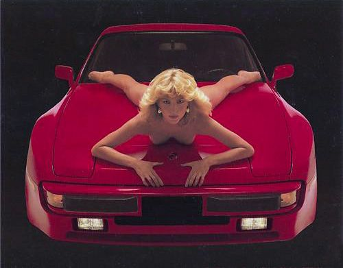 Porsche 944 Turbo Factory Release Poster -  Hot Model - Lady Di ? Perhaps she will let me know <~