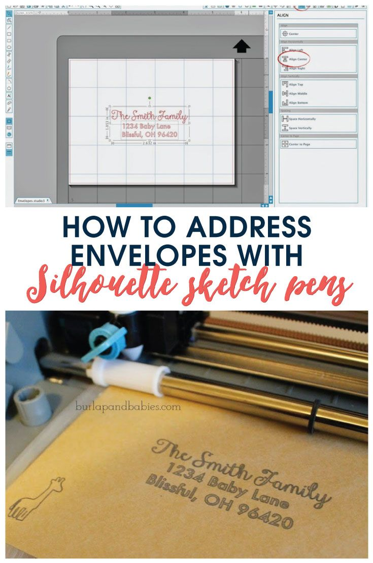 Learn how to address envelopes using Silhouette Cameo sketch pens with this simple tutorial! Save yourself time and make them look awesome!