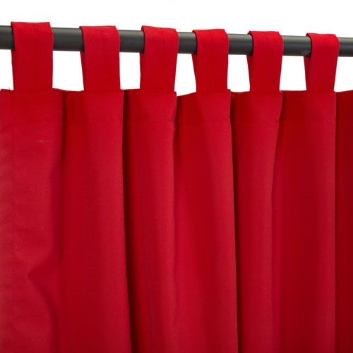Sunbrella Curtain with Tab Canvas Jockey Red