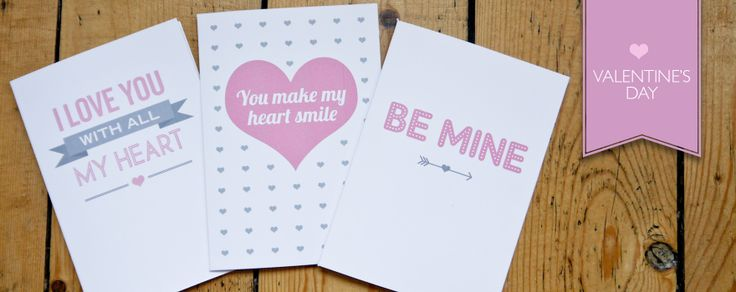 Valentine's cards by Sarah Coll design