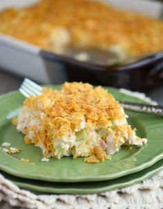 For a casserole this easy, it's amazing how delicious it is. Easy Dump and Bake Chicken Casserole is an easy chicken dinner recipe that is basically fool-proof. Rotisserie chicken is mixed with rice, cream of chicken soup, and more.