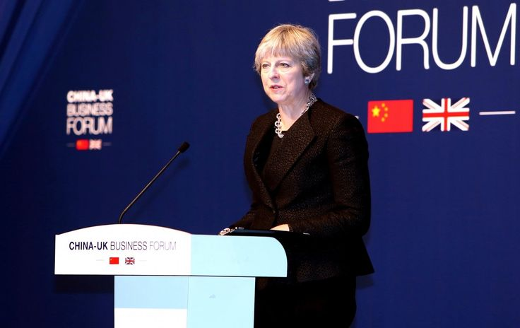 Britains May discusses trade barriers with Chinas Xi
