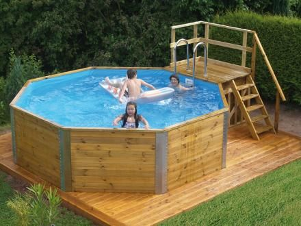 Pin by Mel on LANDSCAPE Pool {Decks} Pinterest Ground pools - holzpool selber bauen
