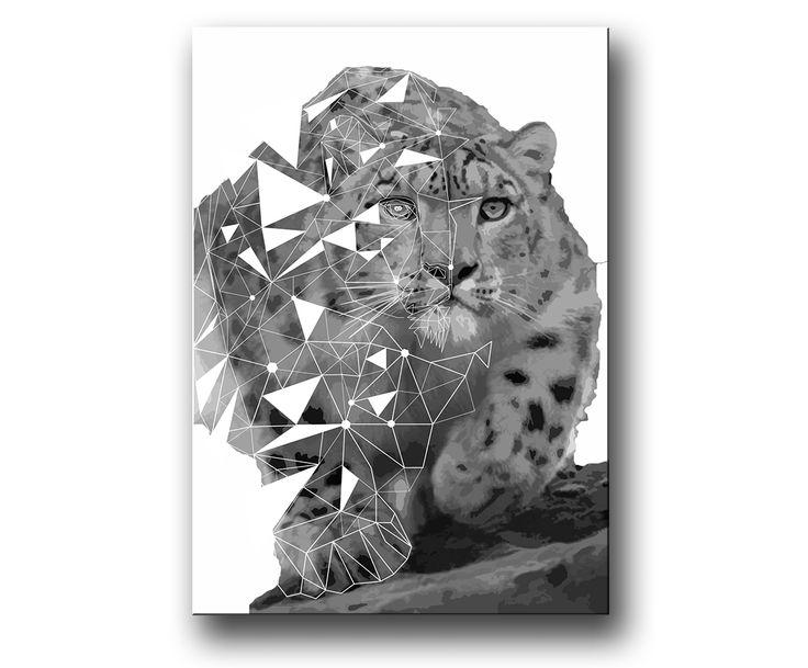 """Snöleopard"" tavla / posters / prints"