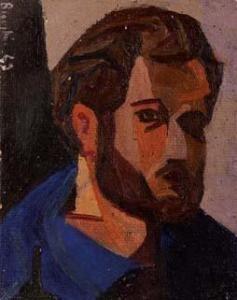 Collezione Zavattini - Cesare Breveglieri , Autoritratto - 1943, olio su cartone telato