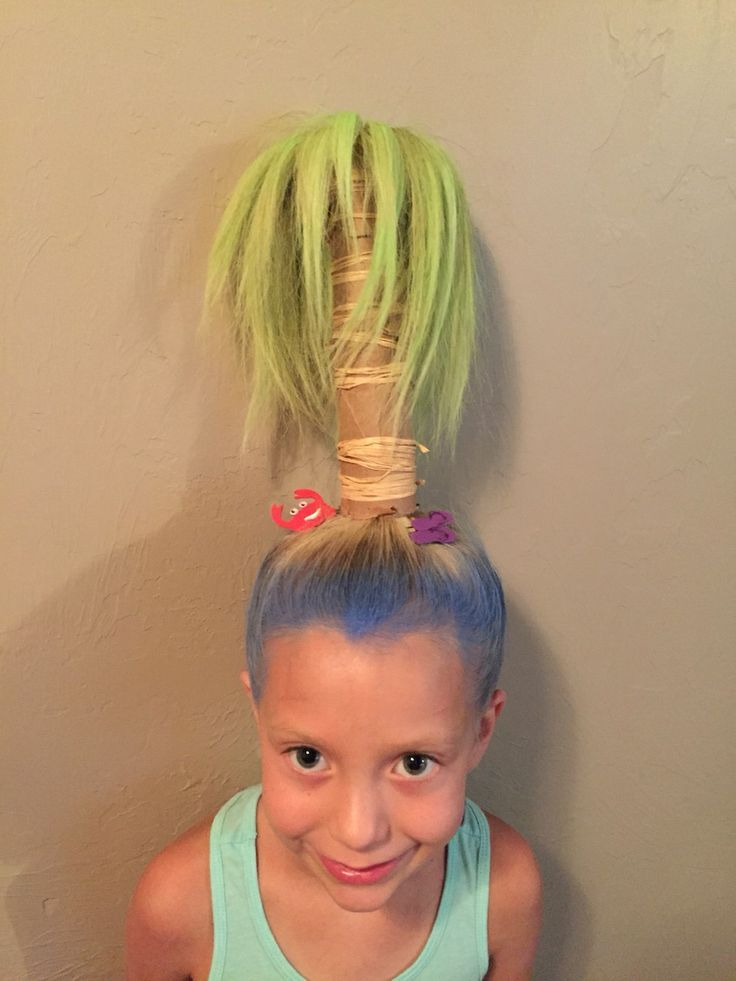 Palm Tree Hair Styles In 2019 Crazy Hair For Kids Wacky Hair