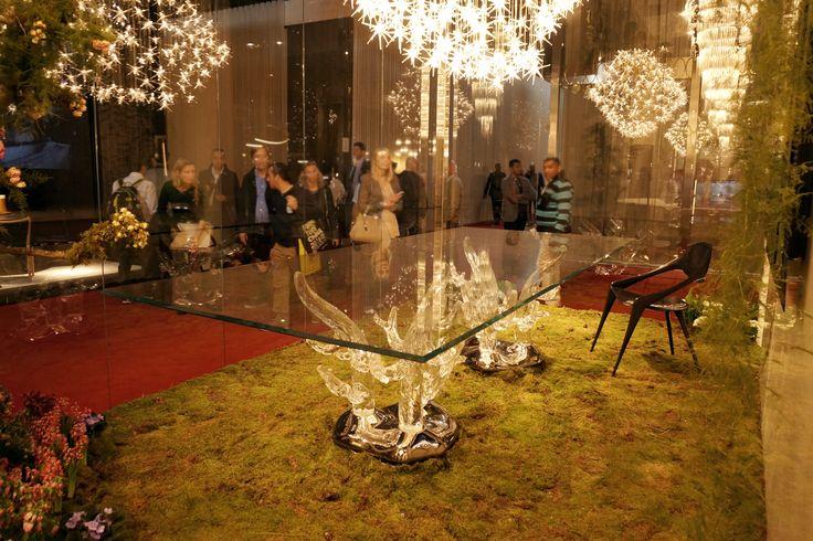 #reflex #stół #szklanystół #mech #glass #glasstable #table #mech #moss #green #luxury #ilovedesign #isaloni #salondelmobile #salondelmobile2016 #mdw16 #milandesignweek2016  #isalone #targi #milano #mediolan #rhofiera #fieramilano