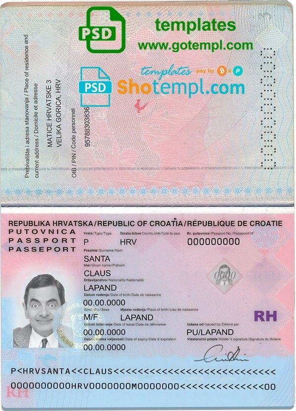 Pin By Bandr Ben Saed On Croatie In 2020 Passport Template Templates Croatia