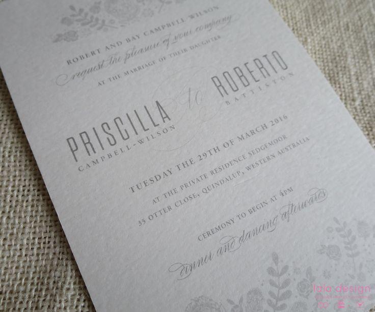 Priscilla & Roberto Invite