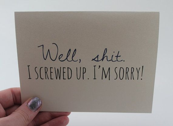 I'm Sorry Card / Apology Card by BE paperie #sorry #cards #apology