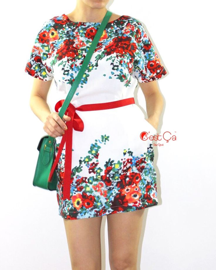 Meet your perfect white mini floral dress. Special lose fit + sheath cut is the unusual touch you definitely needed to try. Add a thin colorful belt ...