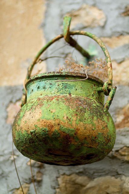 Old Cauldron ---women's household tools were often suspect in the hunt for illicit magic.