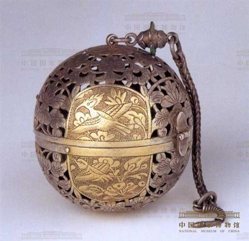 Boule à encens en argent Chine, 7°-9° siècles