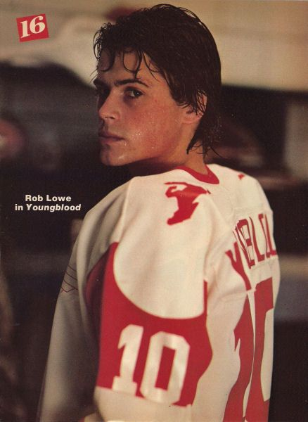 Rob Lowe in Youngblood, my first love of Rob and hockey!