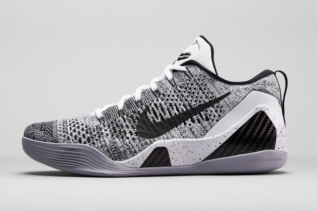 New Arrival 2015 Nike Kobe 9 Elite Low Black White