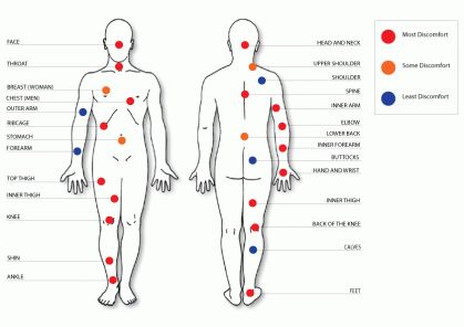Do Tattoos Hurt? Where do Tattoos hurt the most? Here is a simple diagram showing you where tattoos are most and least painful.
