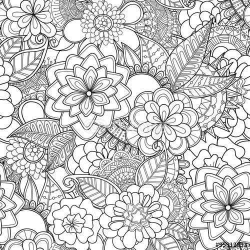 bed pattern coloring pages - photo#19