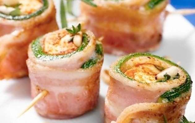 Involtini di bacon e zucchine