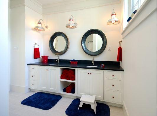 Nice Nautical Themed Bathroom Design   Home And Garden Design Ideas