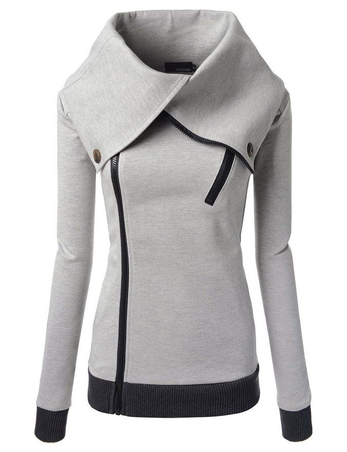 Nearkin Unisex Daily Look Attractive Women Zip-Up City Casual Urbane Jacket at Amazon Women's Clothing store: