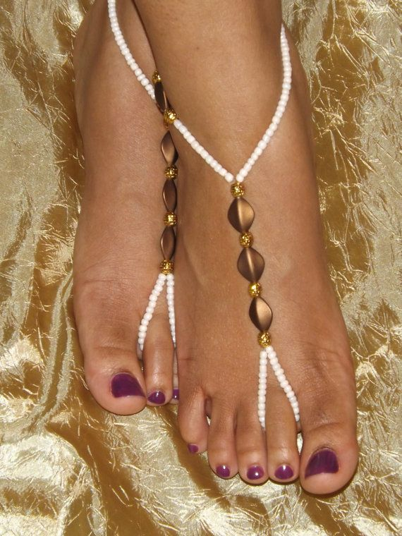 Barefoot sandals Foot jewelry Anklet by SubtleExpressions on Etsy, $19.00