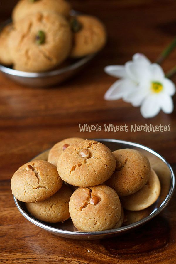 whole wheat nankhatai recipe, how to make atta nankhatai recipe