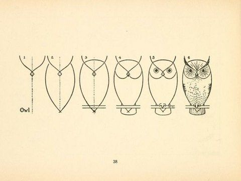 Owl doodle instructions