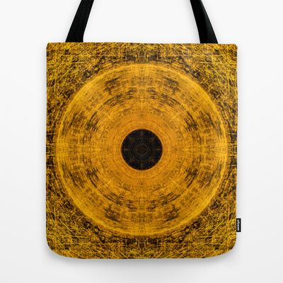 Solid Gold Tote Bag by Bruce Stanfield - $22.00  Inca inspired