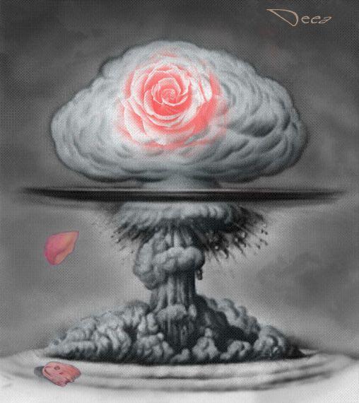 Mushroom cloud rose by miorlolau