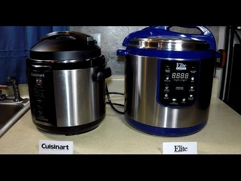 Comparing Cuisinart and Elite Pressure Cooker Review - YouTube