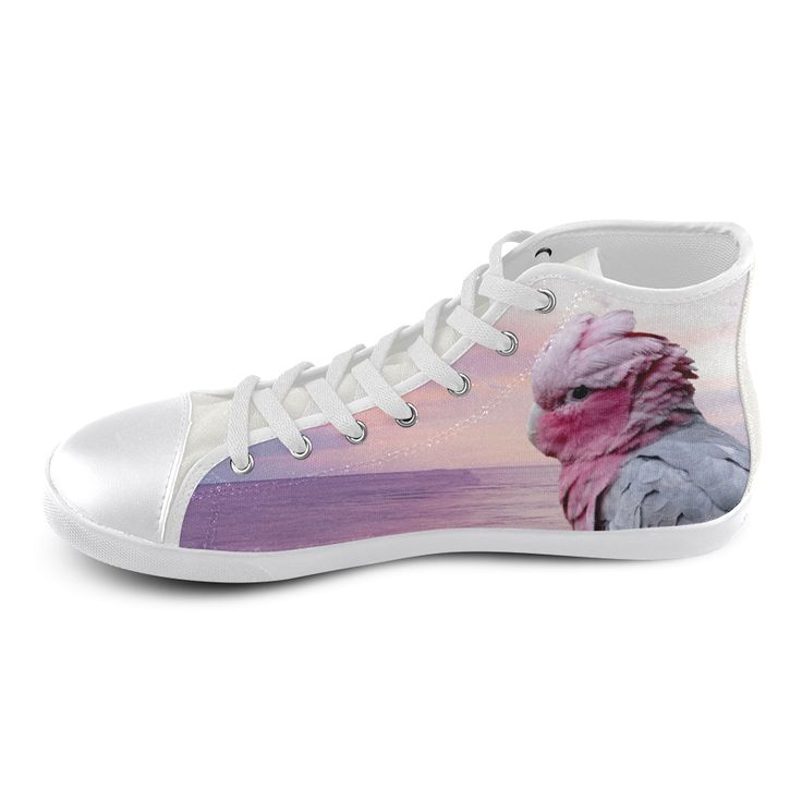 Galah Cockatoo High Top Canvas Kid's Shoes