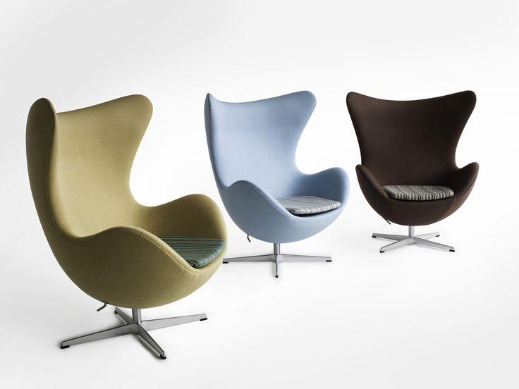 Arne Jacobsen Egg Chairs Upholstered In Subtle Colors Fritz Hansen
