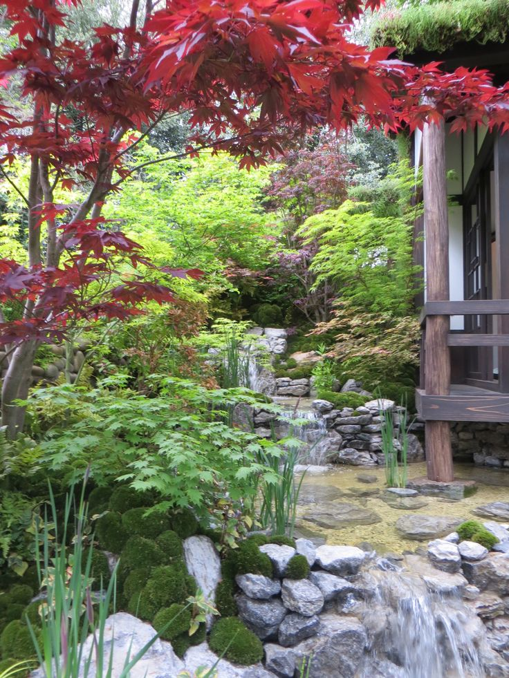 66 best images about japanese gardens on pinterest for Zen garden waterfall