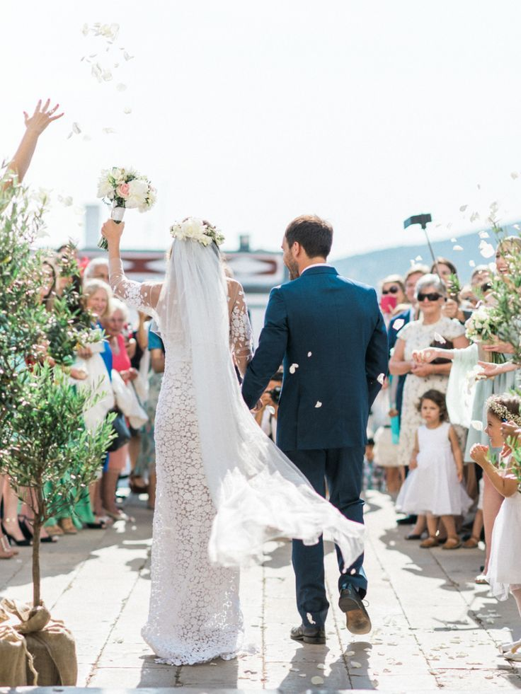Photography : Love Is My Favorite Color   Ceremony Venue : Igreja De Estói   Grooms Attire : Jajoar Barcelona    Event Planning : Algarve Wedding Planners    Wedding Dress : Mira Zwillinger Read More on SMP: http://www.stylemepretty.com/little-black-book-