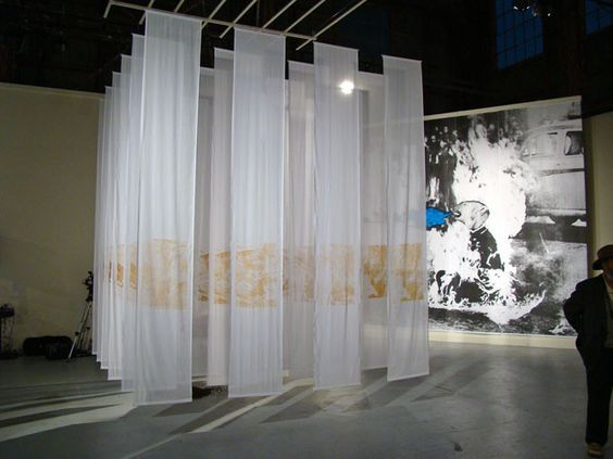 floor to ceiling fabric on stage white - Google Search