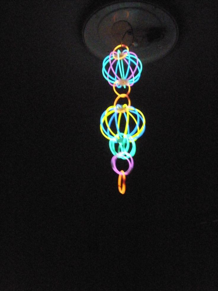 Glowstick Chandelier by cyberia-rwc.deviantart.com on @deviantART