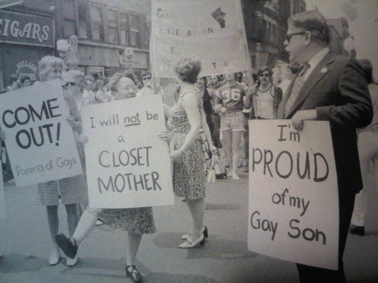 Parents (especially, but this goes for all people) standing up for the basic human right to love whom you love make me smile!