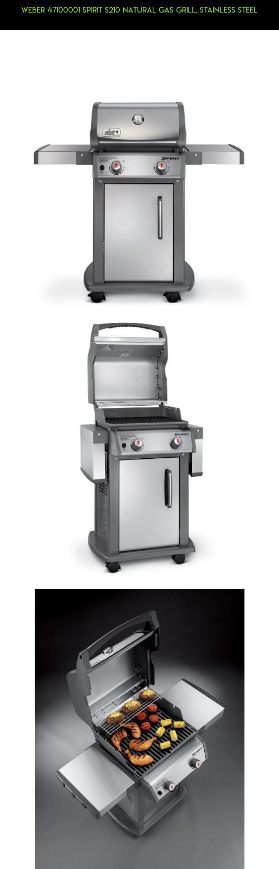 Weber 47100001 Spirit S210 Natural Gas Grill, Stainless Steel #gadgets #fpv #technology #grills #drone #racing #shopping #weber #parts #gas #camera #products #plans #tech #kit http://grilllover.org/coleman-road-trip-propane-portable-grill-lxe-review/