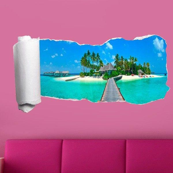 Carta da parati adesiva 3D spiaggia | Saldi su Lesara