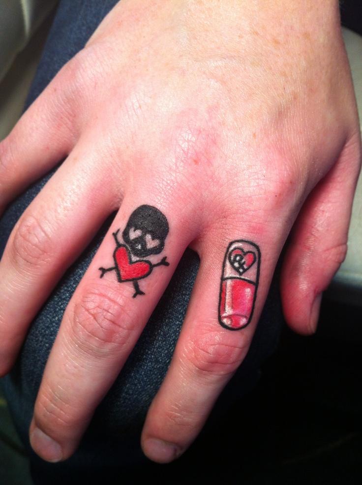 little finger tattoos skull and little pill tattoos i 39 ve done pinterest skulls finger. Black Bedroom Furniture Sets. Home Design Ideas