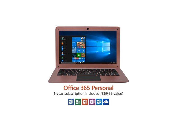 12.5 Ultra Slim Laptop Windows 10 Home Office 365 Personal Intel Processor 32GB storage for $139.00 at Walmart
