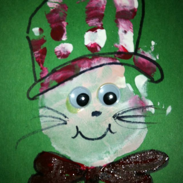 289 best everything dr seuss images on pinterest baby for Cat art and craft