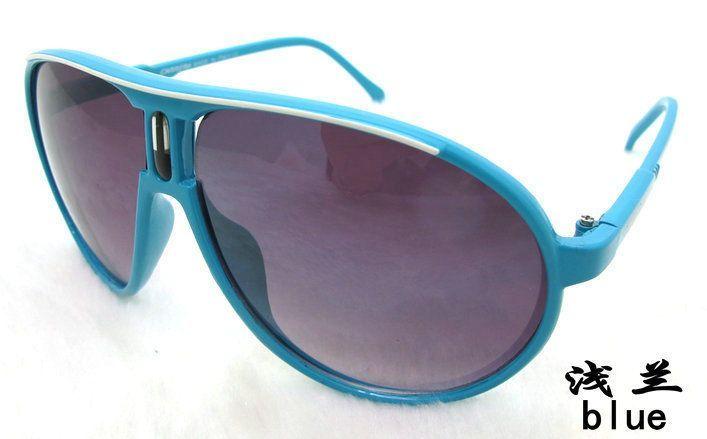 Fashion Men & Women'S Retro Sunglasses Unisex Matte Frame Carrera Glasses Blue A