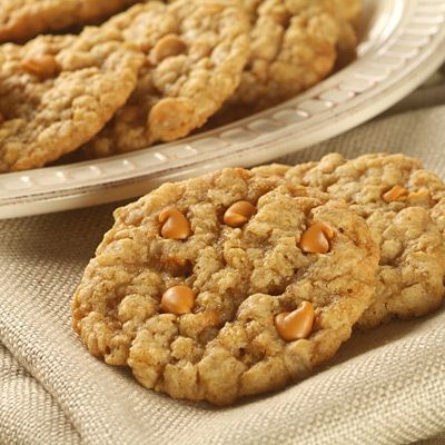 Another Pinner Said:  Oatmeal Scotchies - My top cookie recipe! It is a go-to for all occasions, particularly as a gift. These cookies are pretty sweet. Butterscotch chips make them shine, but white chocolate or peanut butter chips are good too. Pro tip... once we did butterscotch + PB chips in one... om. nom. nom.