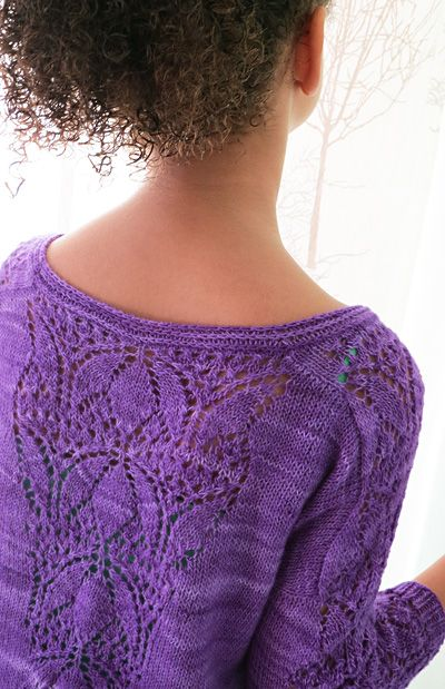 Stiorra pullover : Knitty.com - Spring+Summer 2016 kids' through adults' sizes; 2 sleeve options