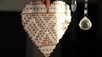 Pepperkaker med strikkemønster