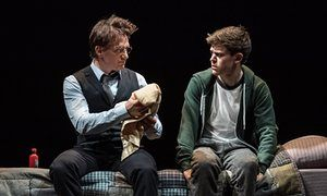 Jamie Parker (Harry Potter) and Sam Clemmett (Albus Potter) in Harry Potter and the Cursed Child. Palace Theater. London. 2016